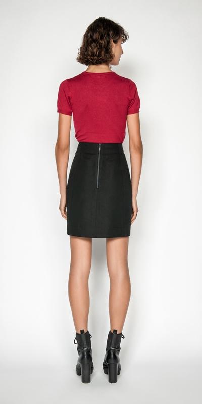 Skirts   Cotton Linen Aline Skirt