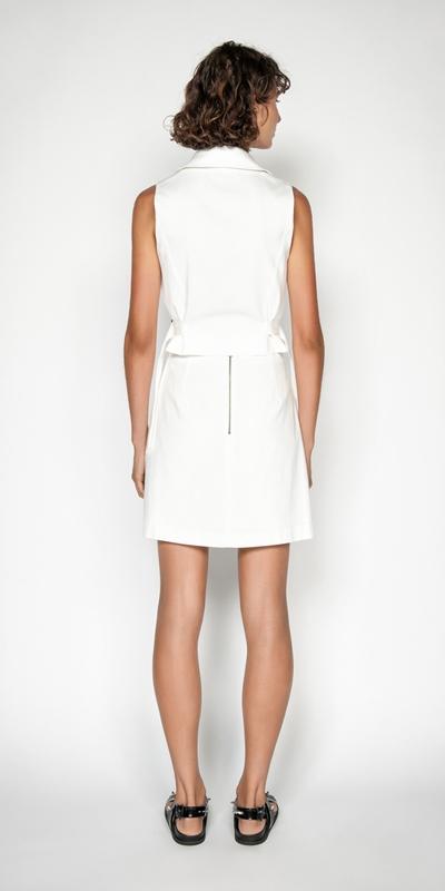 Skirts | Cotton Dobby Utility Mini Skirt