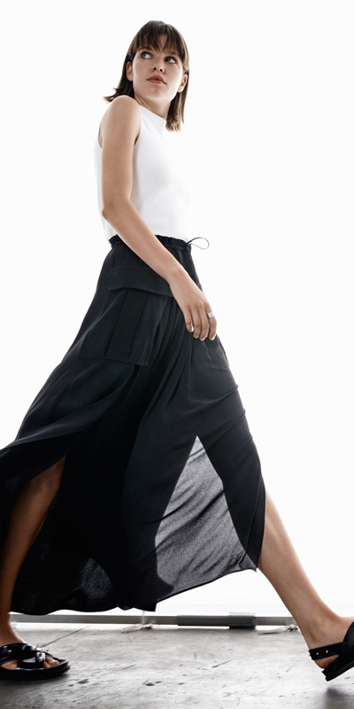 Made in Australia  | Viscose Cargo Maxi Skirt