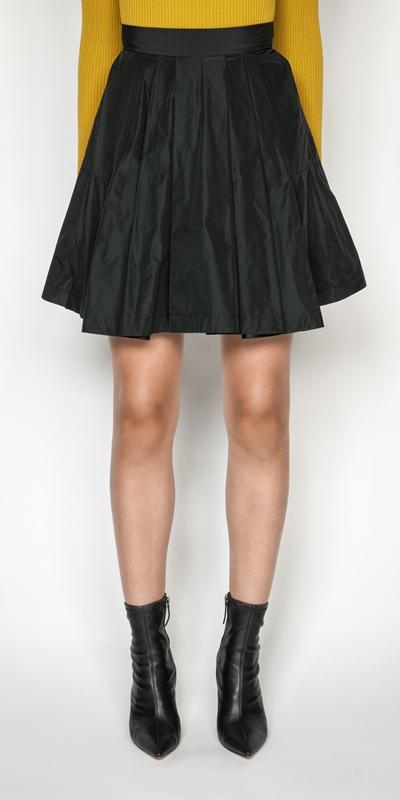Skirts   Pleated Mini Skirt