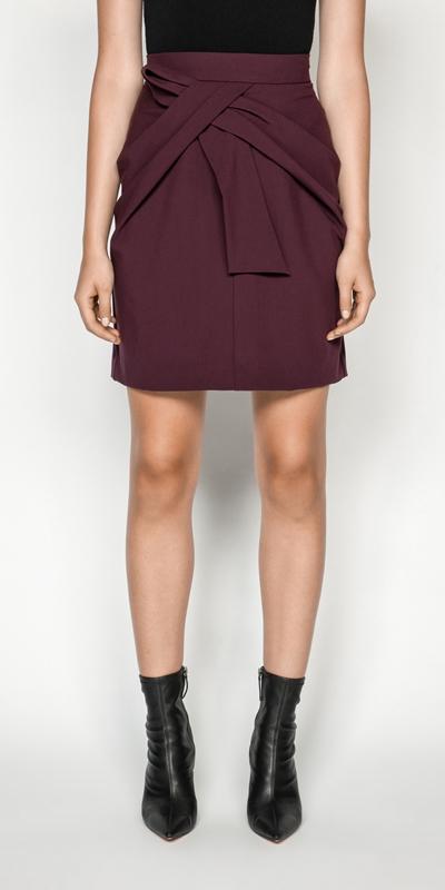 Skirts | Twist Waist Mini Skirt