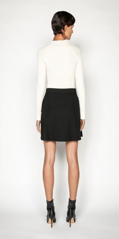Skirts | Monochrome Animal Mini Skirt