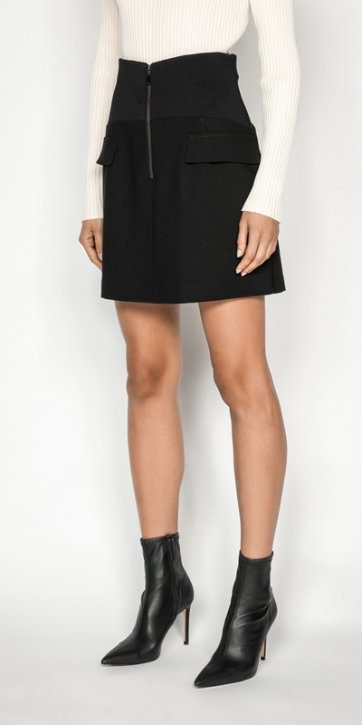 Made in Australia  | Rib Waist Mini Skirt