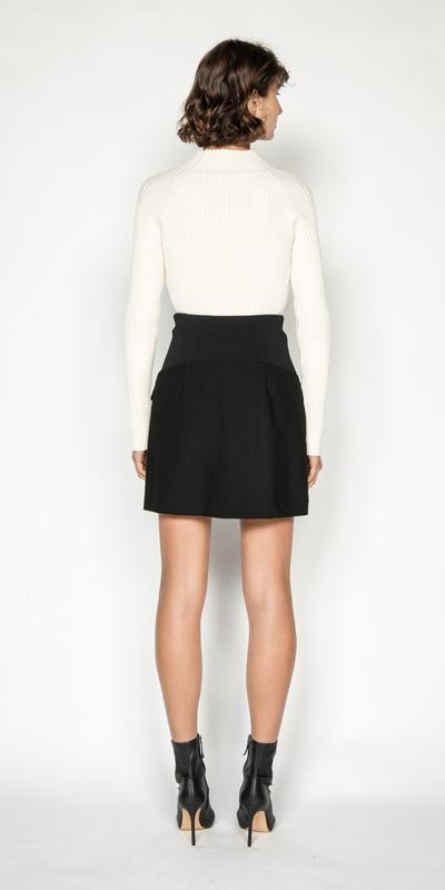 Skirts | Rib Waist Mini Skirt