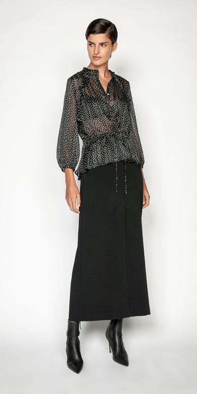 Skirts | Split Front Column Skirt