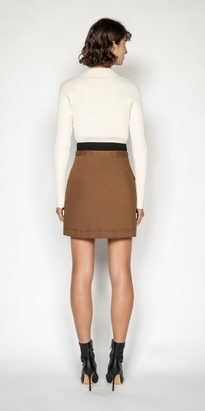 Skirts   Cotton Corset Mini Skirt
