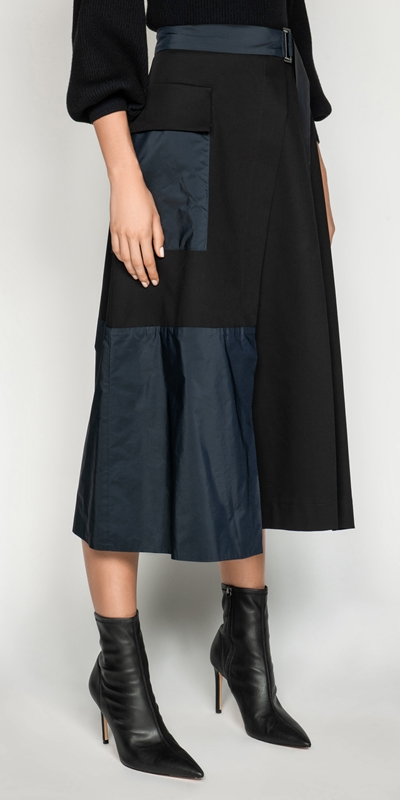 Cue Cares - Sustainable  | Organic Cotton Wrap Skirt