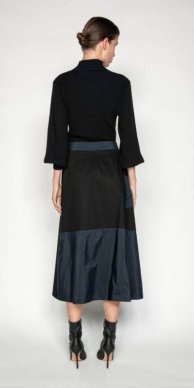 Skirts   Organic Cotton Wrap Skirt