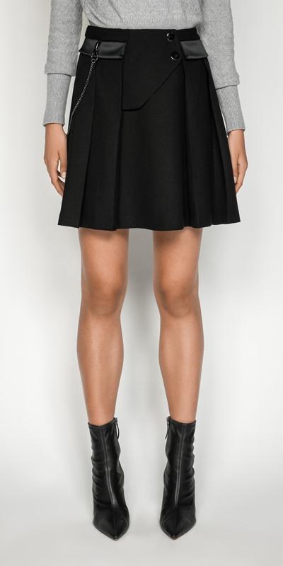 Skirts | Cotton Twill Chain Mini