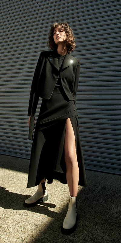 Skirts  | Split Front Midi Skirt