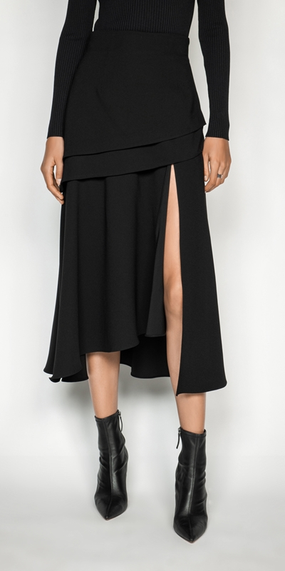 Skirts   Split Front Midi Skirt