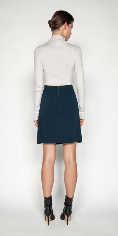 Skirts | Teal Twist Waist Mini