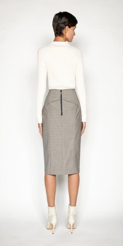 Skirts | Mini Houndstooth Pencil Skirt