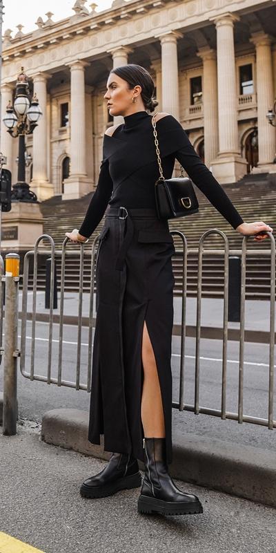 Skirts | Organic Cotton Column Skirt