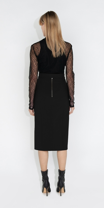 Skirts | Belted Pencil Skirt