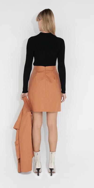 Skirts   Cotton Mini Skirt
