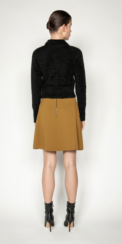 Skirts   Pleat Front Mini