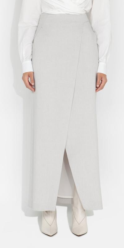 S21 Campaign  | Melange Wrap Front Skirt