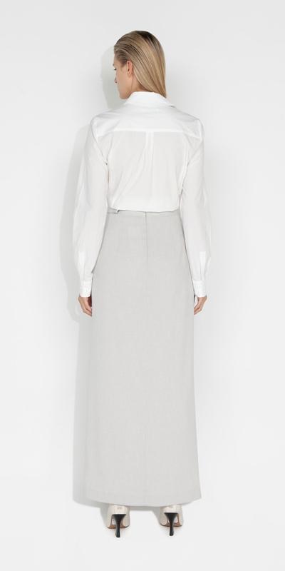 Skirts   Melange Wrap Front Skirt