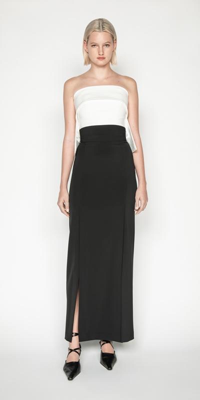 Skirts   Tech Stretch Column Skirt