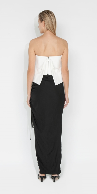 Skirts   Drapey Tech Ruched Skirt