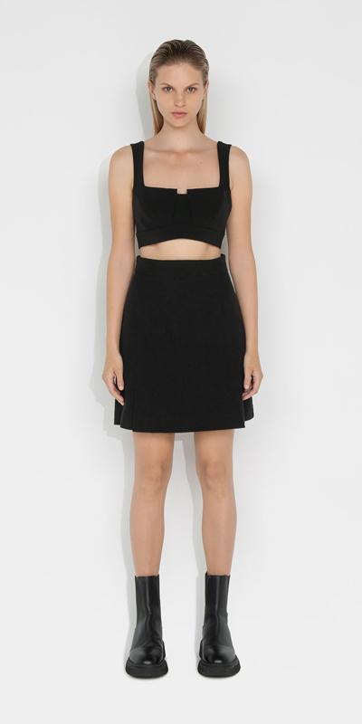 Sale | Boucle Tweed A-line Skirt