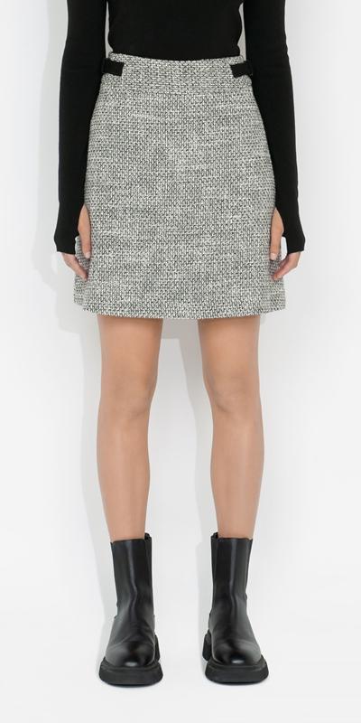 Skirts  | Tweed A-Line Mini Skirt