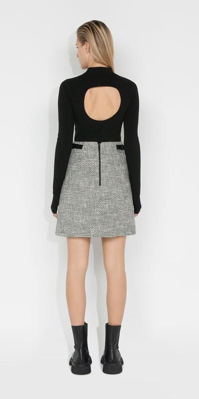 Skirts   Tweed A-Line Mini Skirt