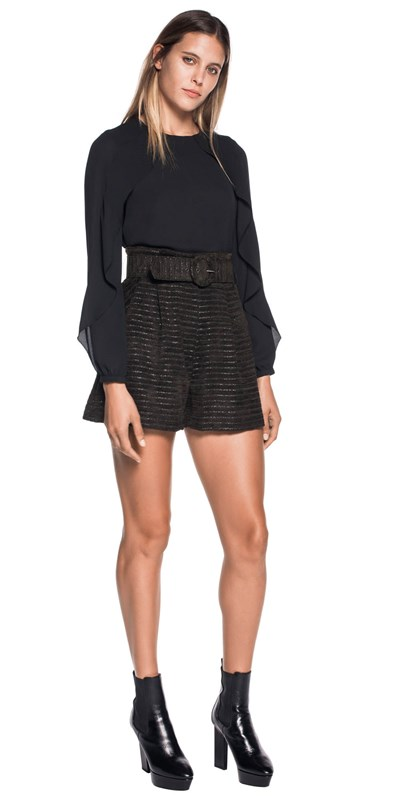 Pants | Metallic Stripe Short