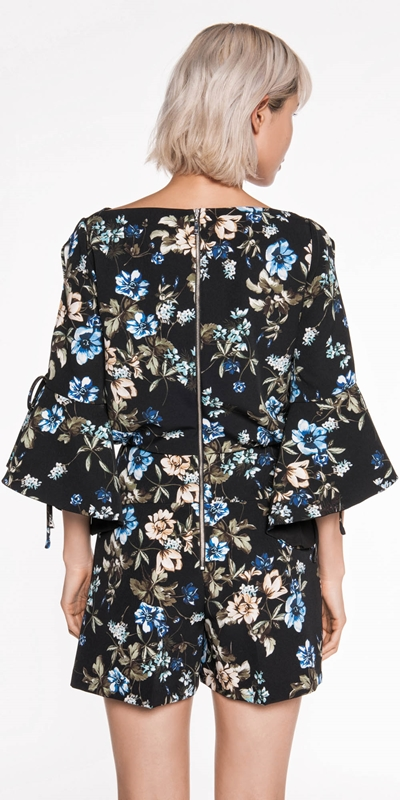 Pants | Night Shade Floral Playsuit