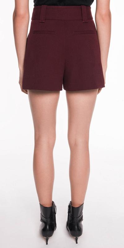 Pants | Crepe Topstitched Short
