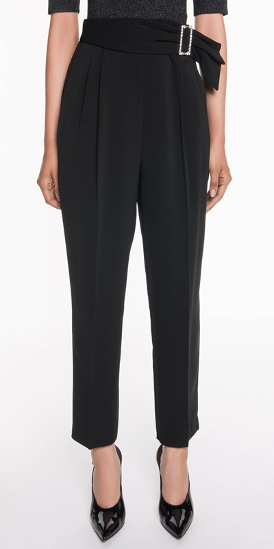 Pants  | Diamante Buckle Waisted Pant