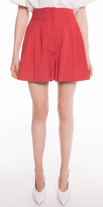 Pants  | High Waisted Linen Short