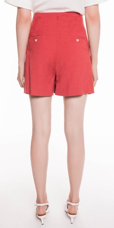 Pants | High Waisted Linen Short