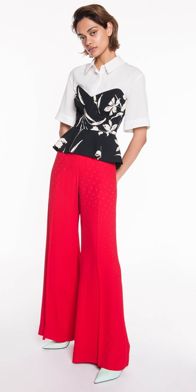Made in Australia | Red Spot Jacquard Pant
