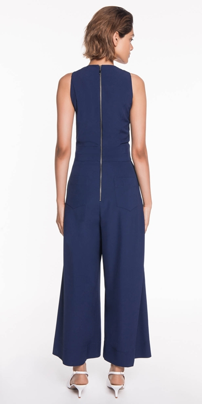 Pants | Twill Wide Leg Jumpsuit