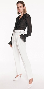 Pants | Front Tuck High Waisted Pants