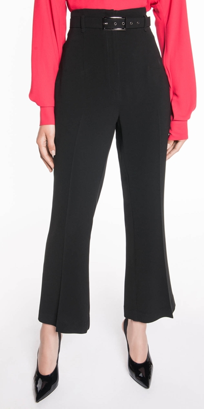 Sale  | Belted Cropped Flare Pant