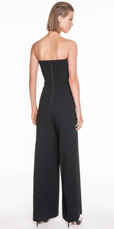 Jumpsuits | Diamante Buckle Strapless Jumpsuit