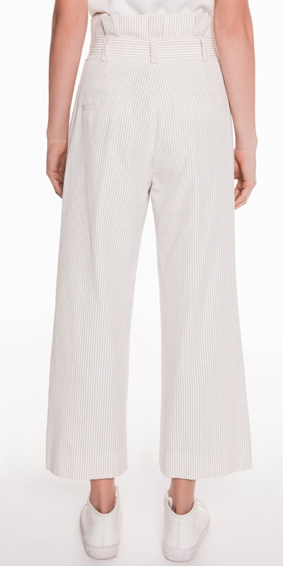Pants | Belted Wide Leg Pant