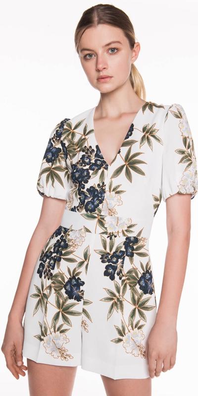 Sale | Kimono Floral Crepe Playsuit