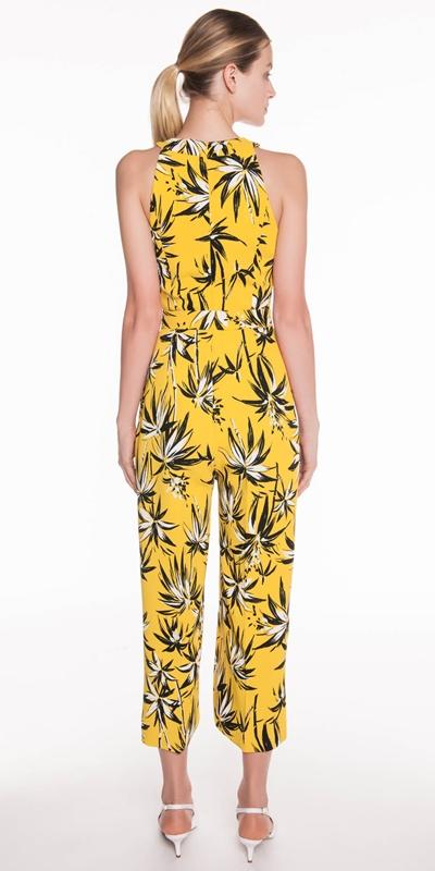 Jumpsuits | Palm Crepe Belted Jumpsuit