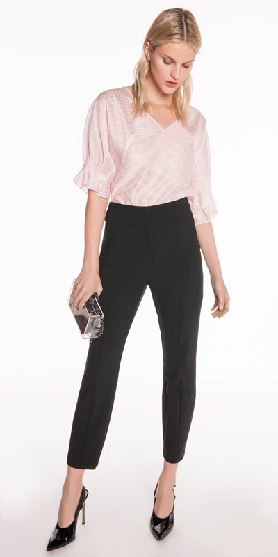Pants | High Waist Slim Leg Pant