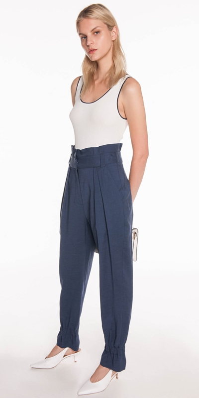 Made in Australia | Linen Paperbag Waist Pant