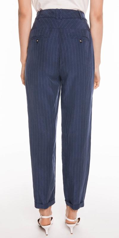 Pants | Striped Slim Leg Pant