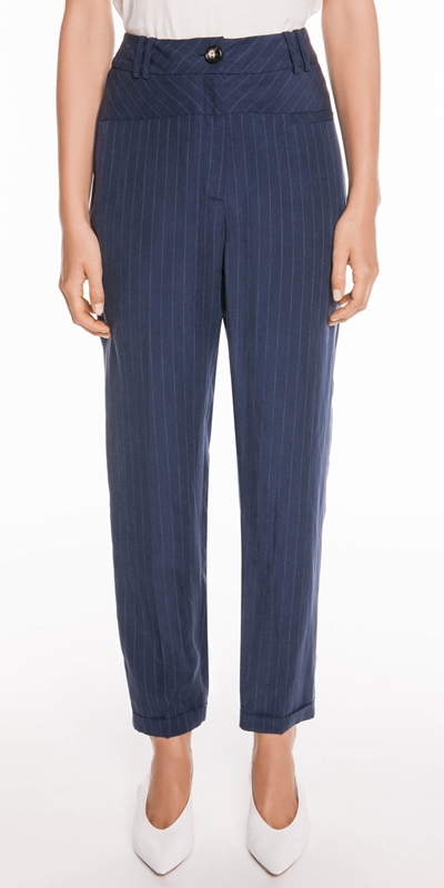 Pants  | Striped Slim Leg Pant