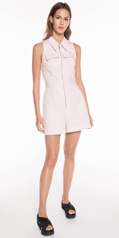 Dresses | Pale Pink Denim Playsuit
