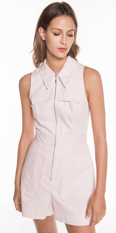 Jumpsuits  | Pale Pink Denim Playsuit