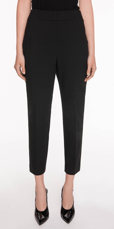 Made in Australia  | Double Weave Cropped Slim Pant