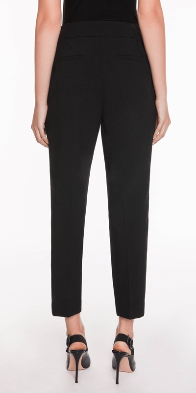 Pants | Double Weave Cropped Slim Pant